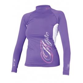 lycra fille violet manche longue mystic pour le kitesurf,windsurf,surf,sport d'eau